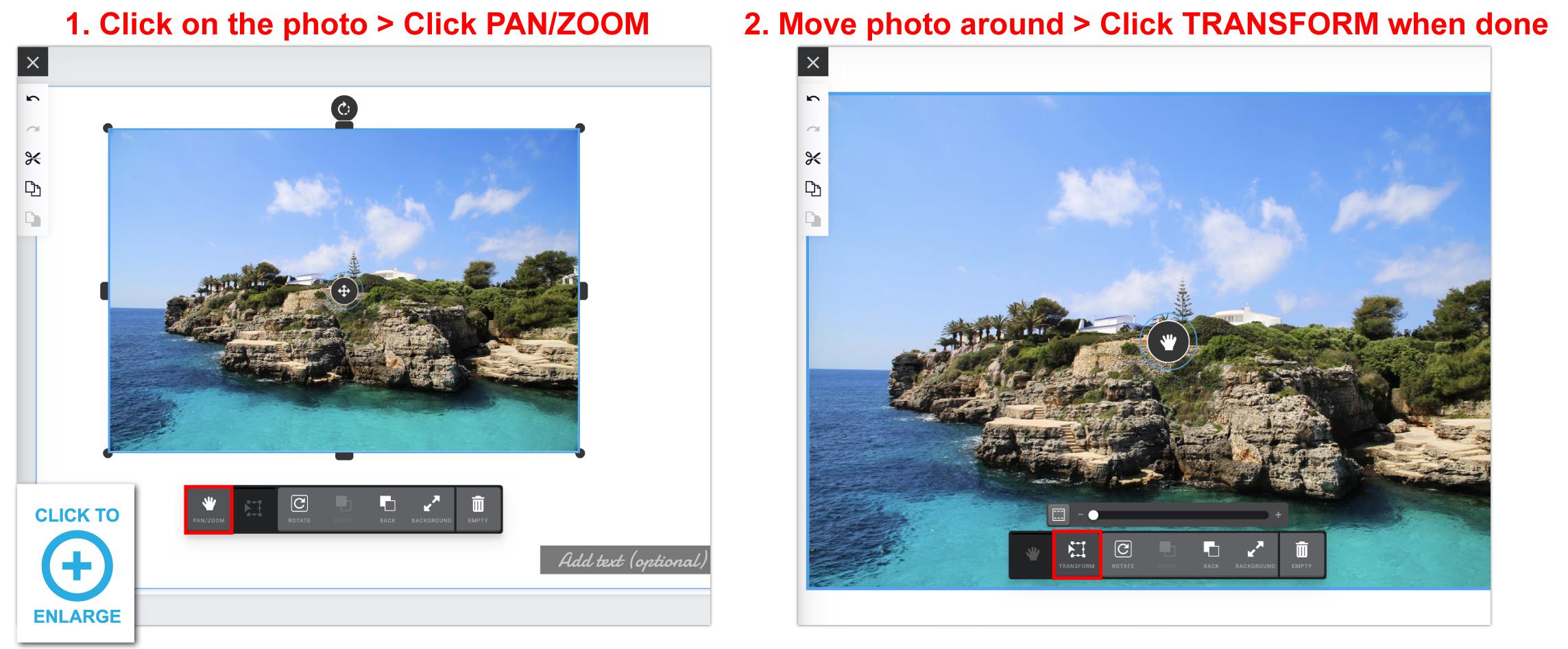 move photo around