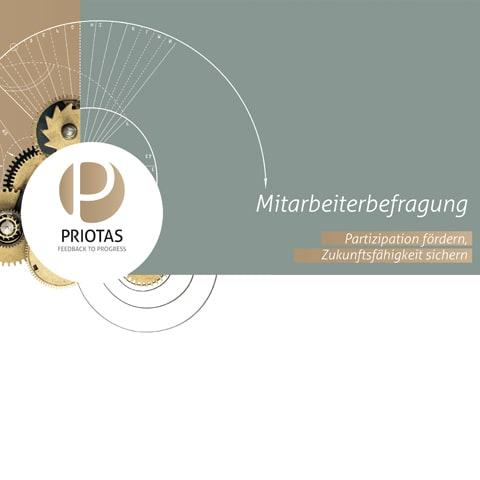 Titelbild Priotas Broschüre Mitarbeiterbefragung