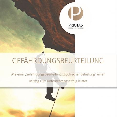 Titelbild Priotas Broschüre Gefährdungsbeurteilung