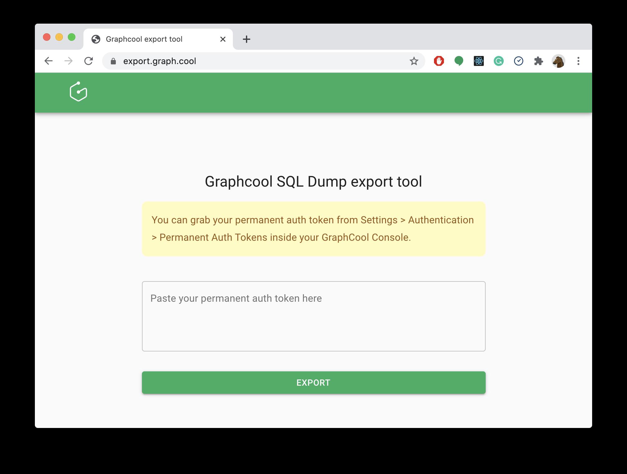 Graphcool SQL Dump export tool
