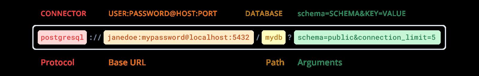 Structure of the PostgreSQL connection URL