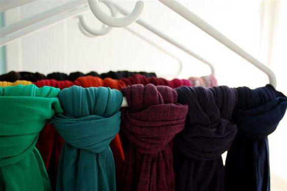 Ganchos para bufandas Más