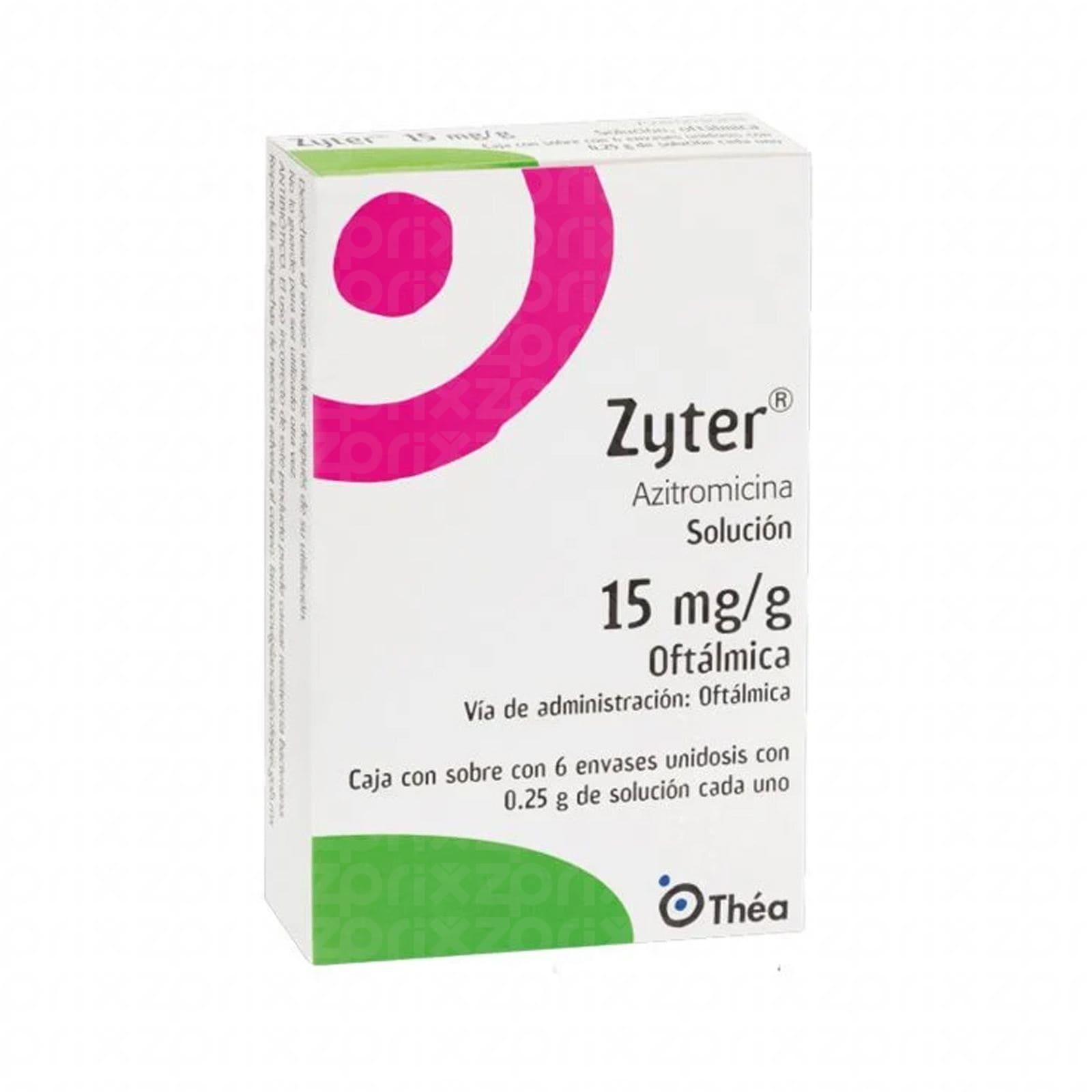 Zyter solucion de 15mg/g oftalmica