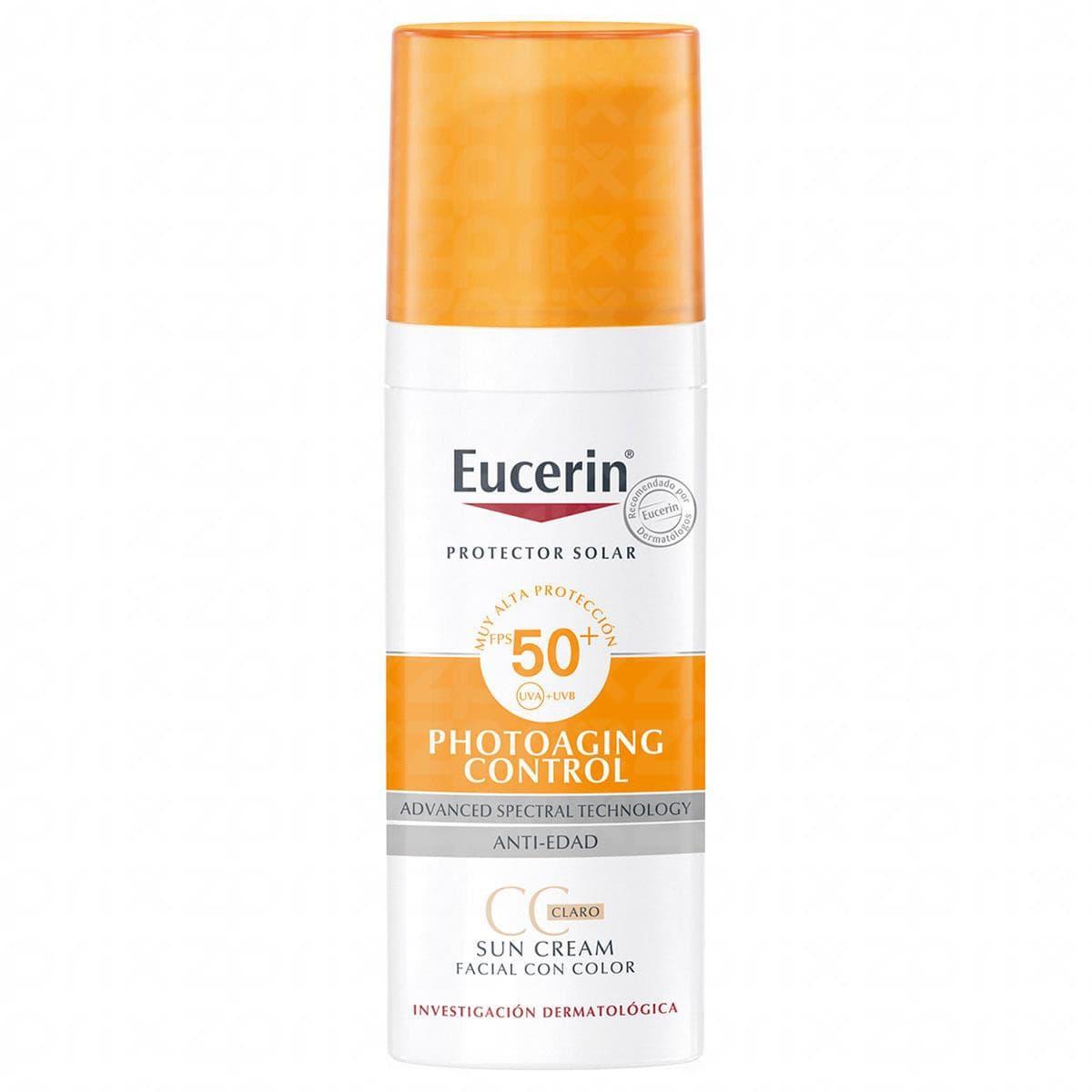 Eucerin Sun creme con color tono claro SPF 50 con 50 ml
