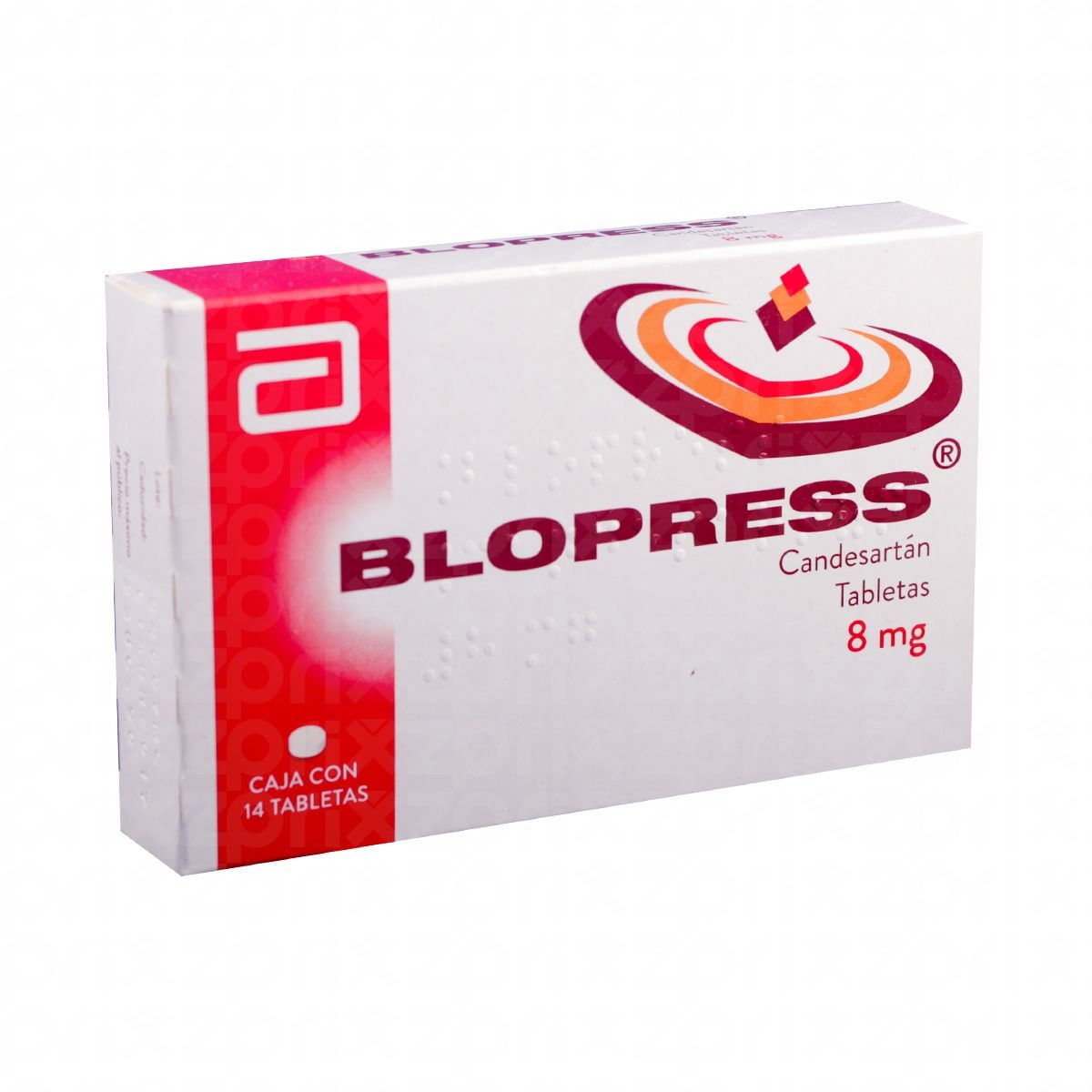 Blopress 8 mg oral 14 tabletas