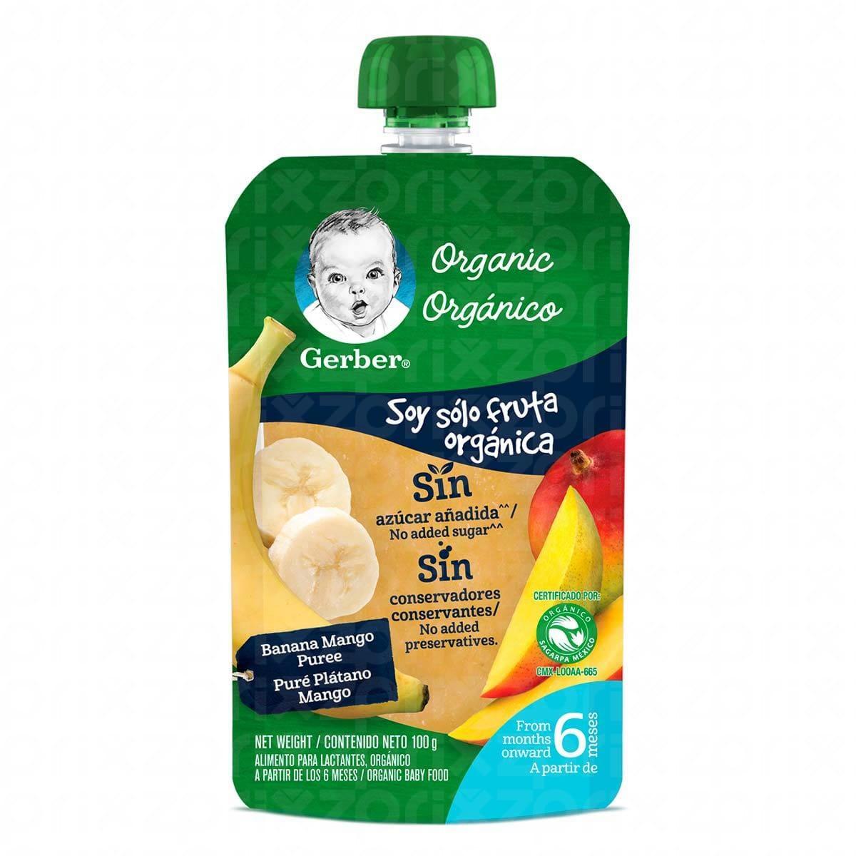 Gerber organico pure platano mango 100 gr