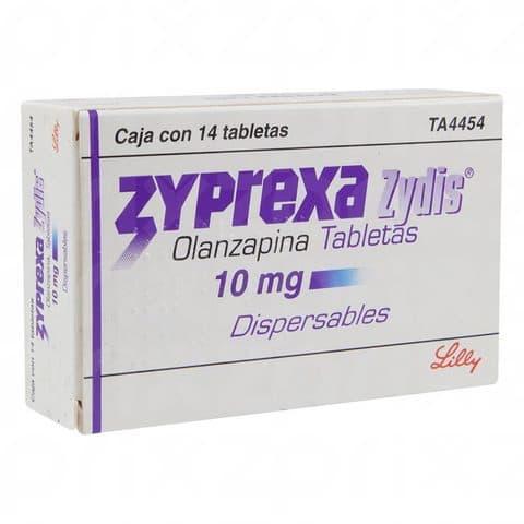 Zyprexa Zydis 10 mg dispersables oral 14 tabletas