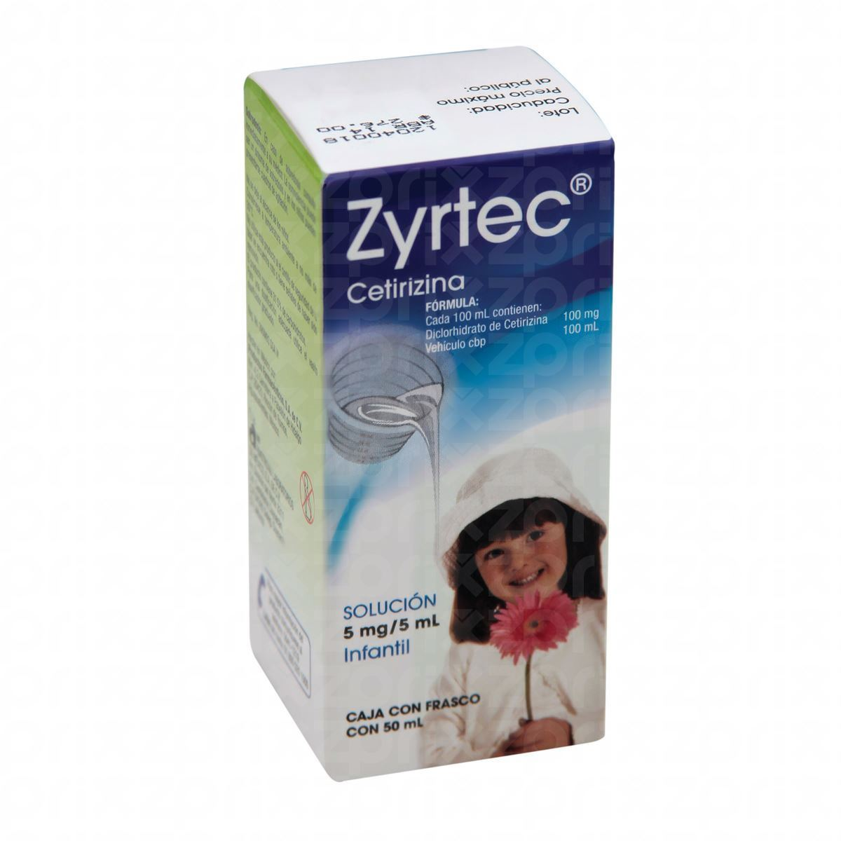 Zyrtec 100 Mg./100 Ml. Oral Inf 50 Ml. Suspension