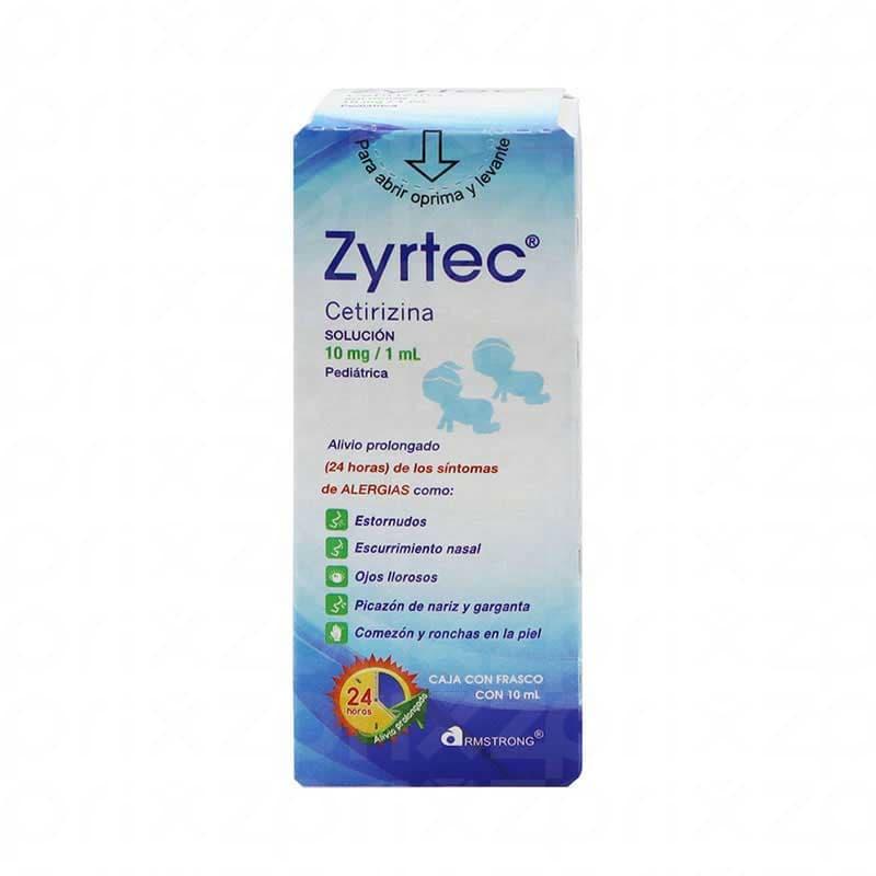 Zyrtec 10 mg/1 ml gotas oral pediatrico 10 ml