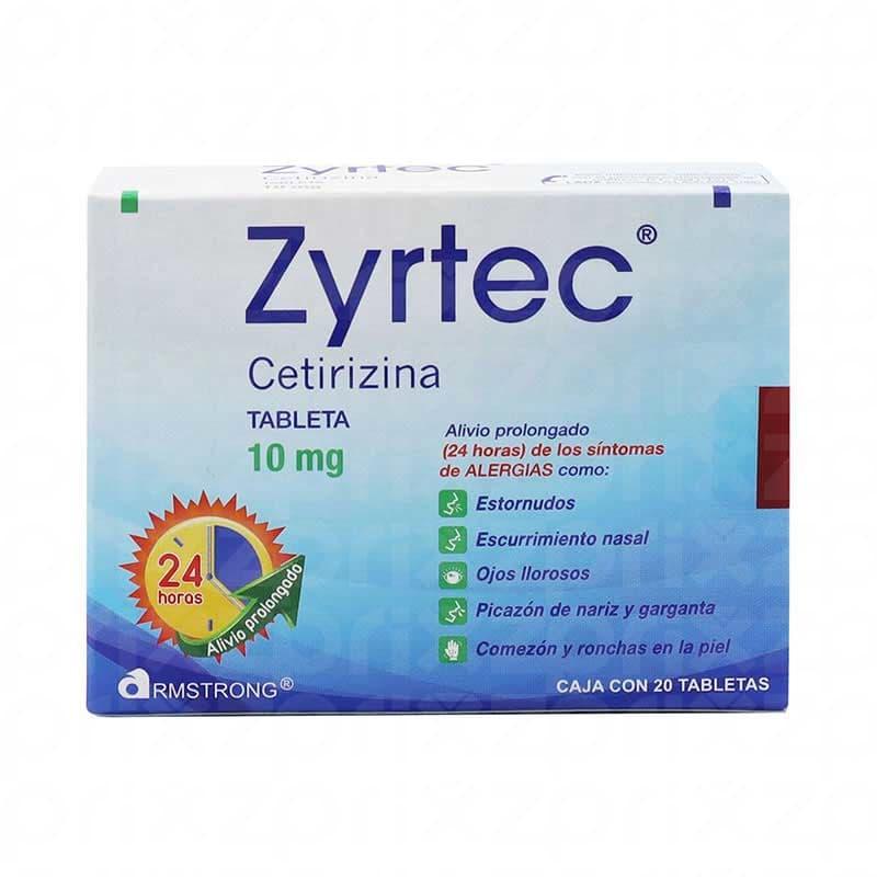 Zyrtec 10 Mg. Oral 20 Tabletas