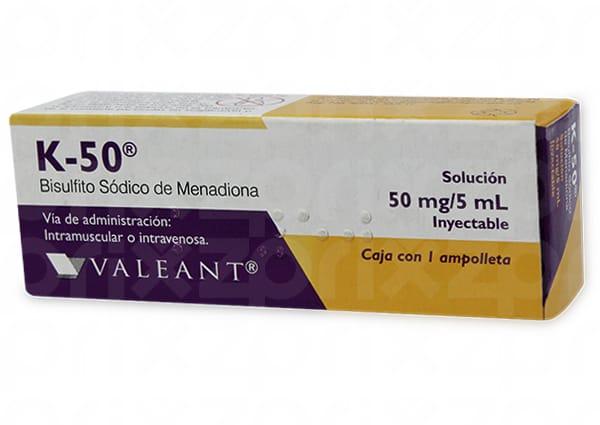 5 K-50 fabre con ampolleta 50 mg / 5 ml