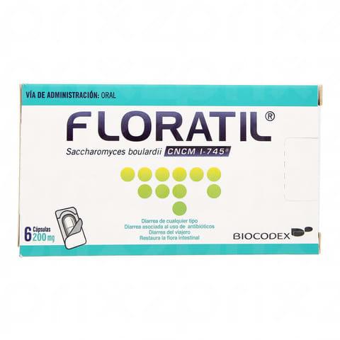FLORATIL 200 mg 6 capsulas