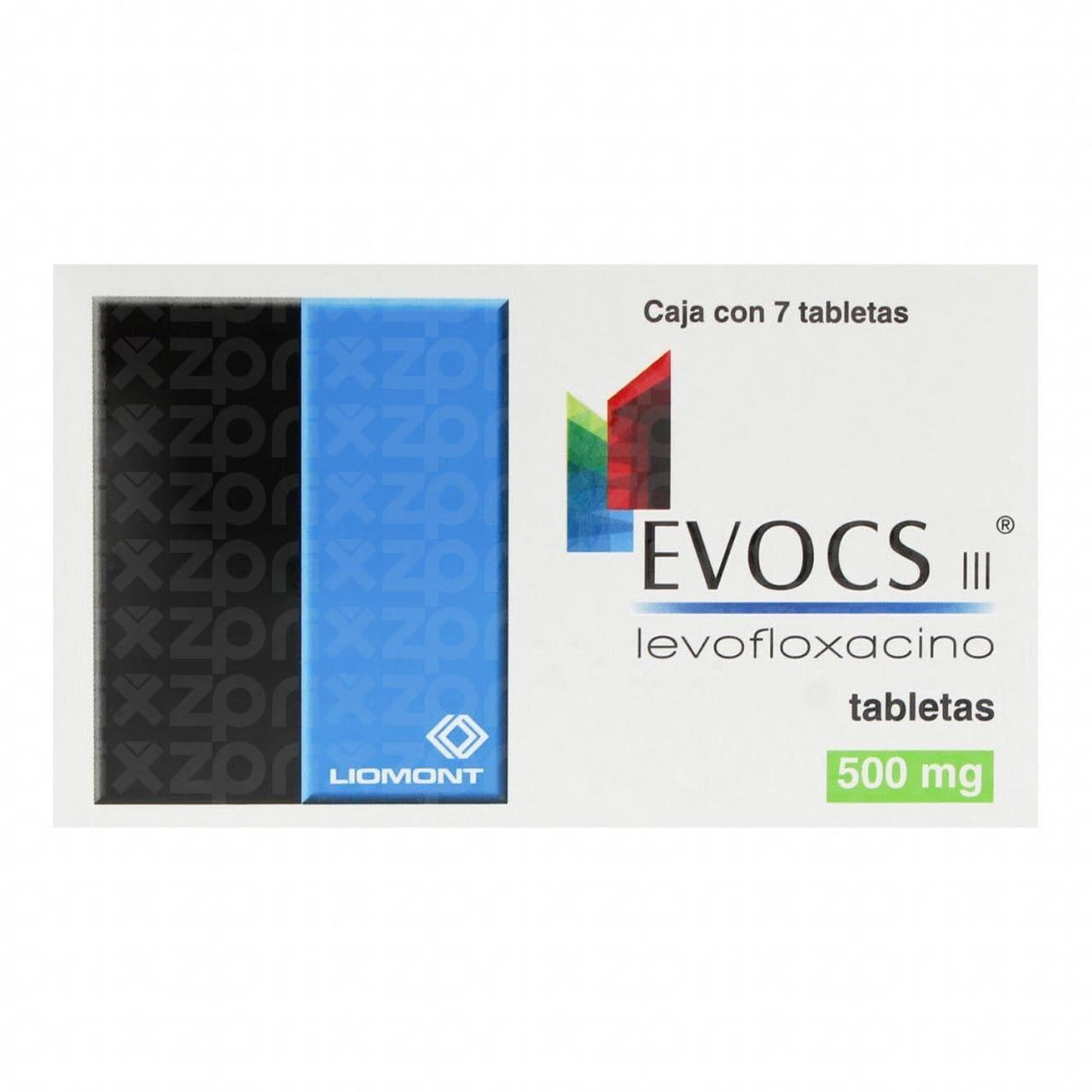 Evocs III 500 mg oral 7 tabletas