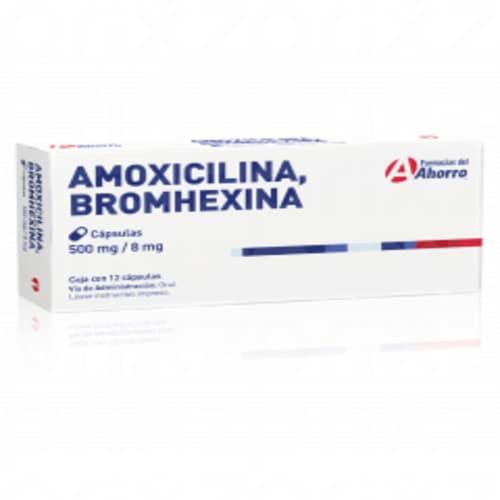 Marca del Ahorro Amoxicilina/bromhexina 500/8mg 12 capsulas