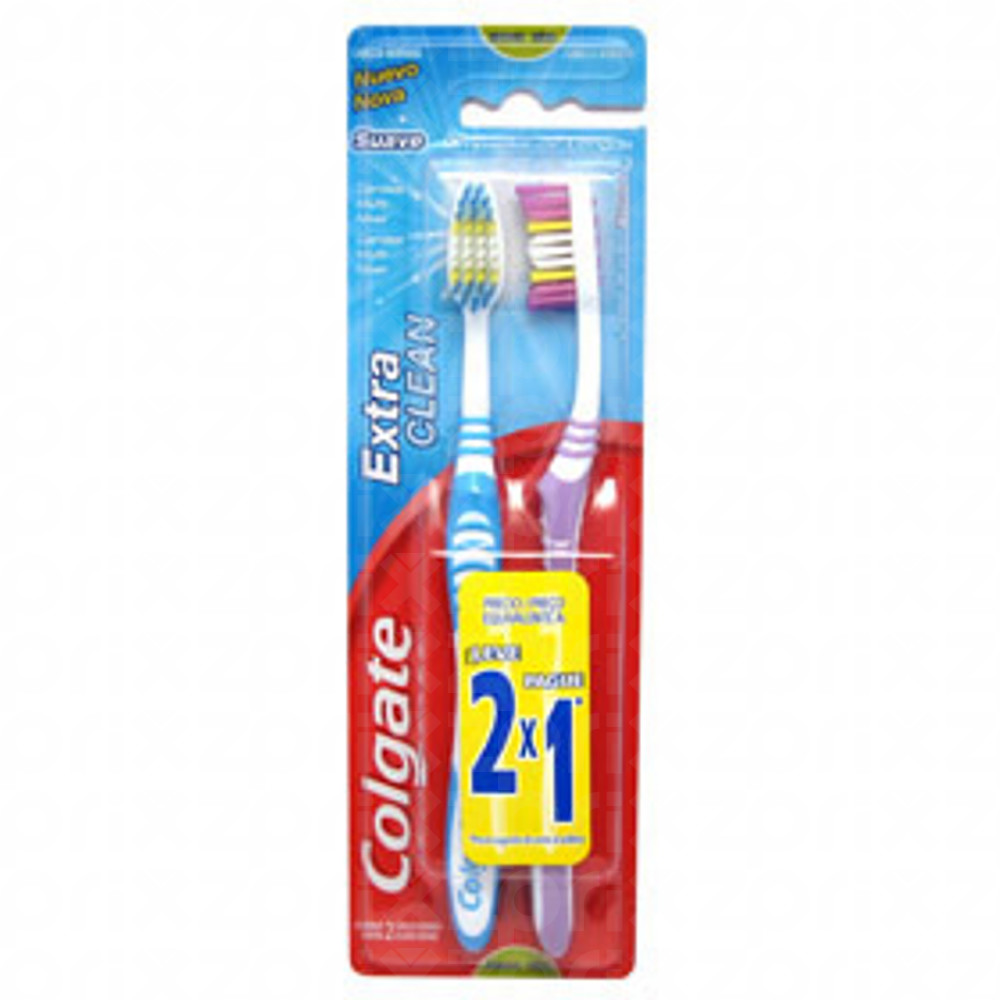 Cepillo Dental Colgate Extra Clean Duro 2×1