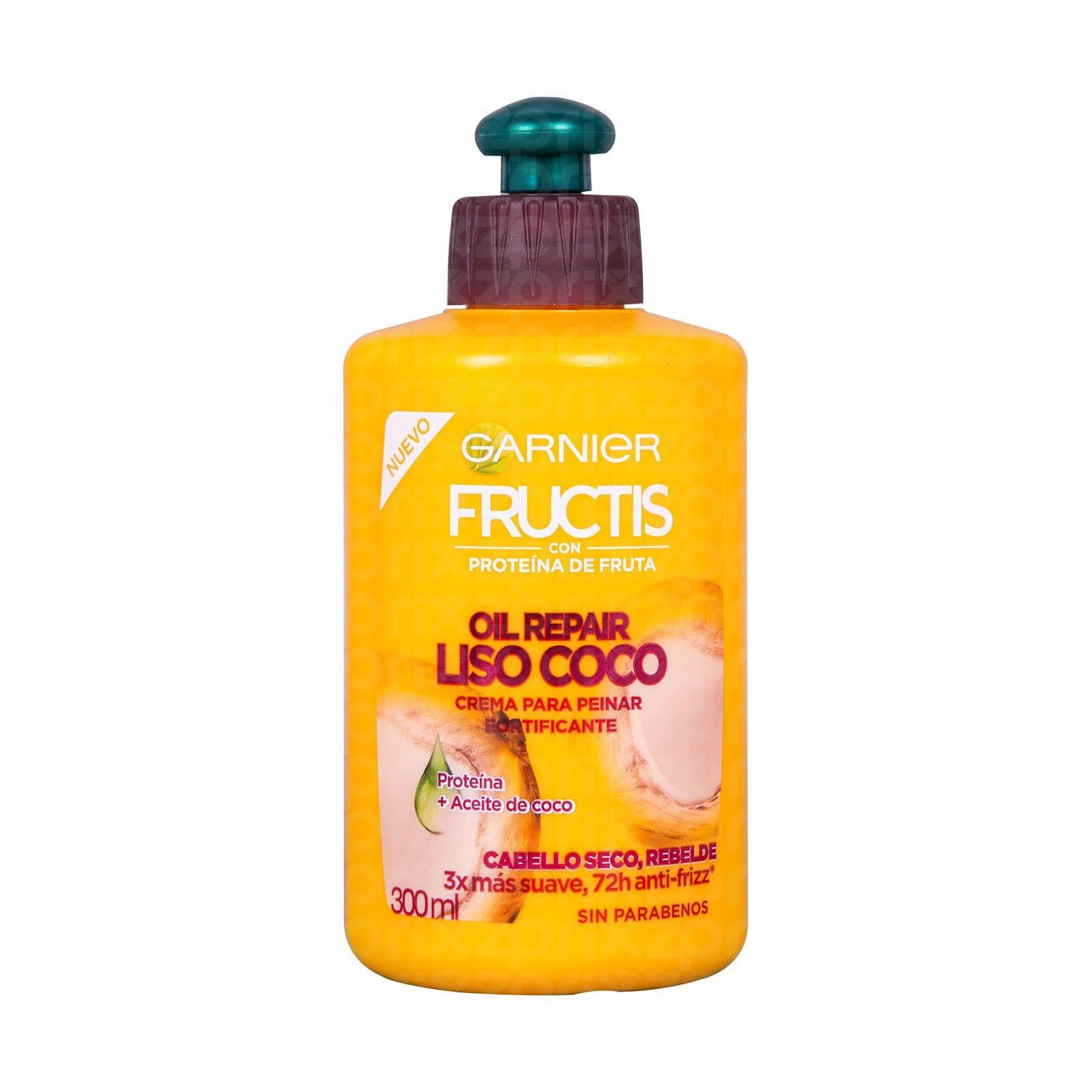 Crema para peinar Garnier Fructis liso coco 300 ml