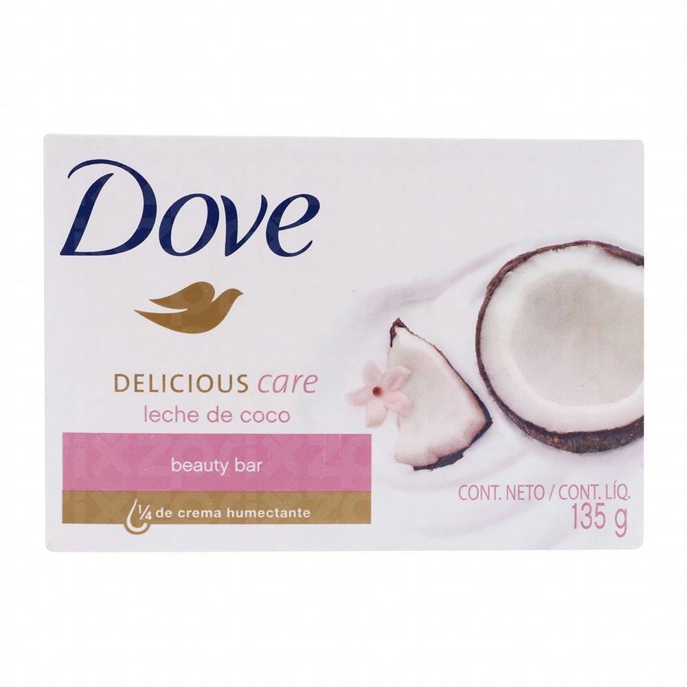 Jabon en barra Dove leche de coco 135 gr