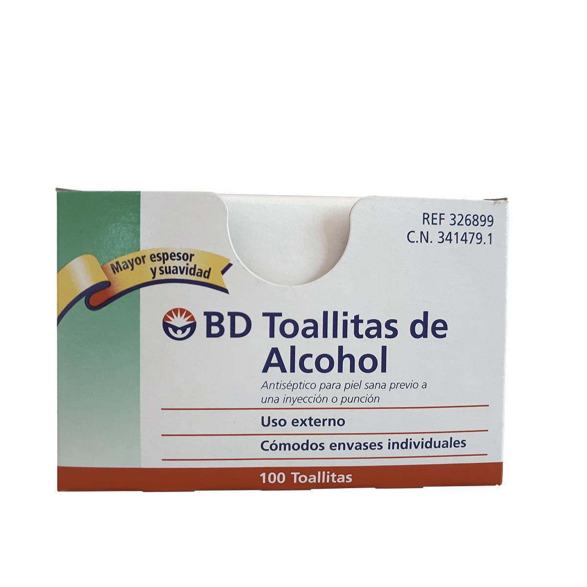 Algodon Almohadilla Con Alcohol 100 Piezas