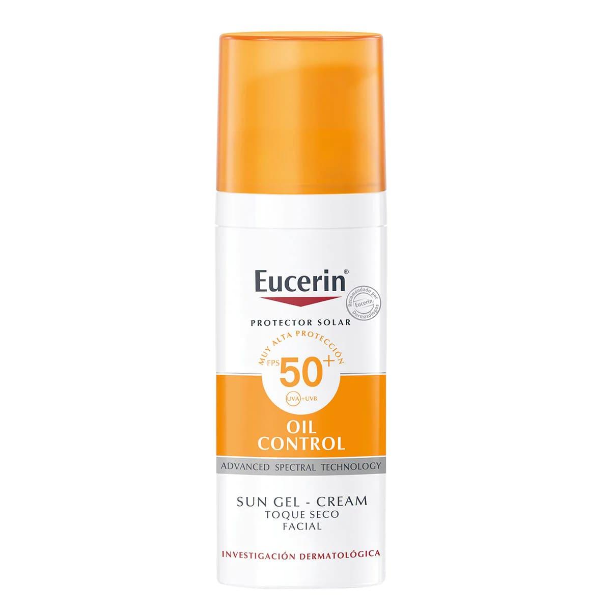 Eucerin Oil Control Toque Seco Fps 50 1 Botella Crema 50 Ml