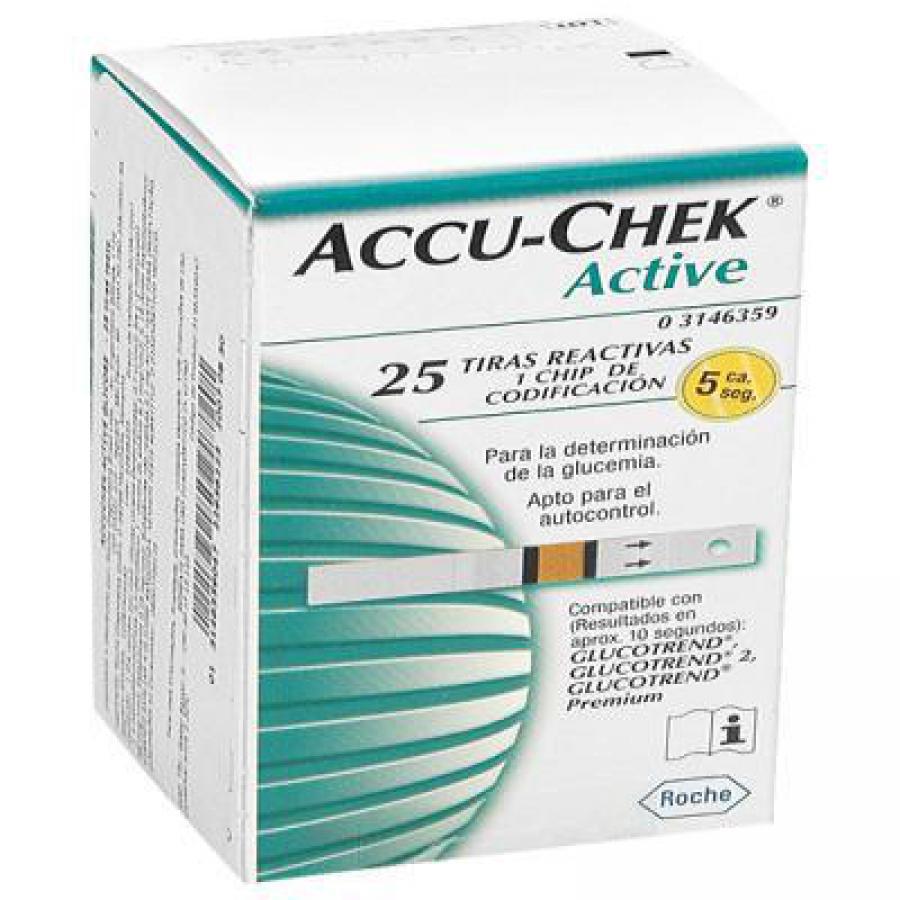 Comprar Accu-Chek Active Glicemia 1 Frasco 25 Tiras
