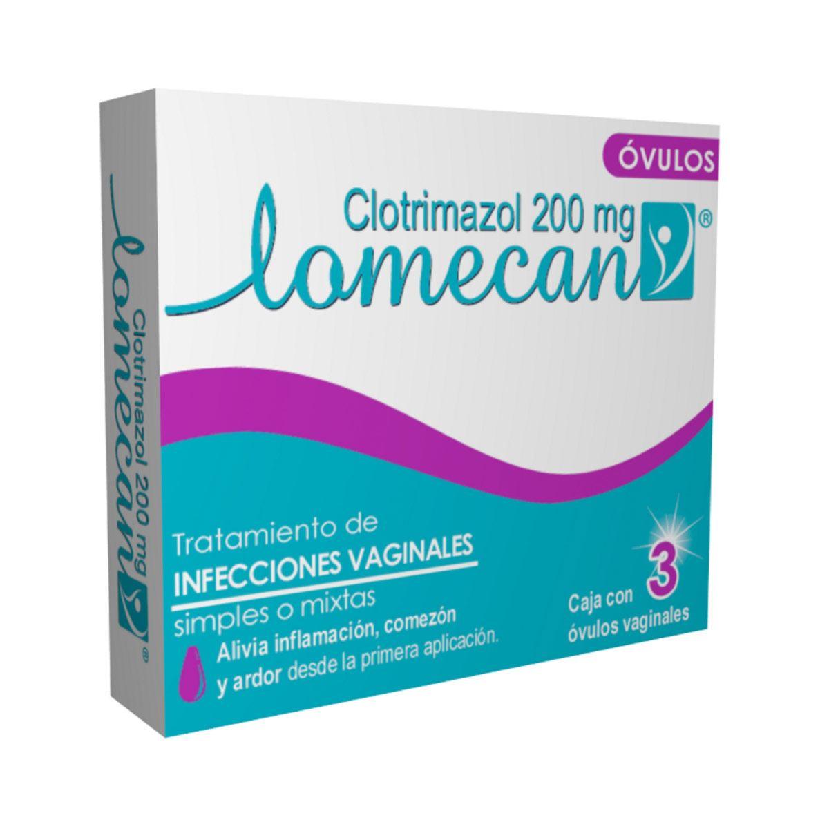 Comprar Lomecan V Ovulos 200 Mg Piezas 3 Ovulos