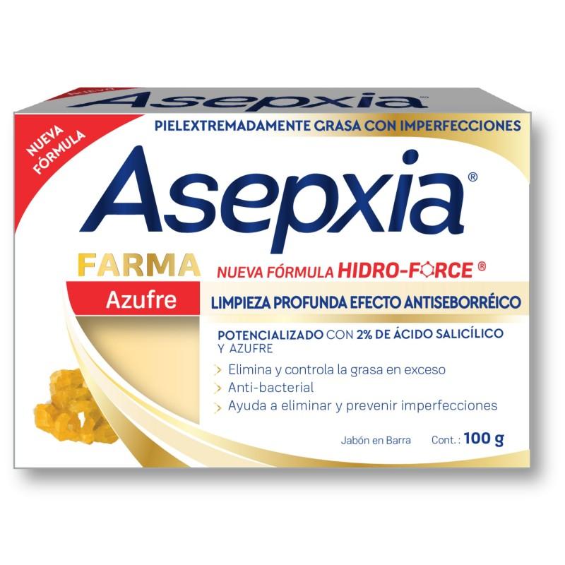 Comprar Asepxia Jabon Azufre Farma 1 Barra Jabon 100 Gr