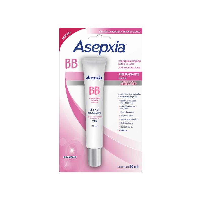 Comprar Asepxia Bb Piel Radiante Autoajustable Maquillaje 1 Blister Liquido 30 Ml