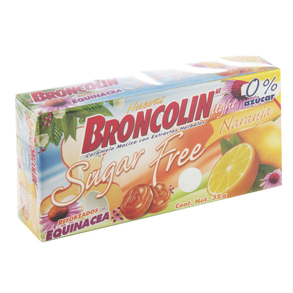 BRONCOLIN SUGAR FREE NARANJA 1 CJA  35 G