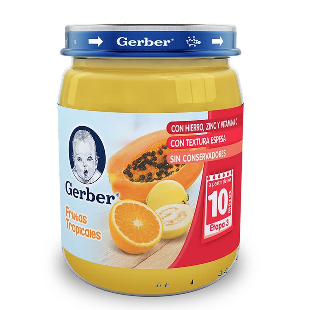 Comprar Gerber Etapa 3 Frutas Tropicales Papilla 1 Frasco 170 Gr