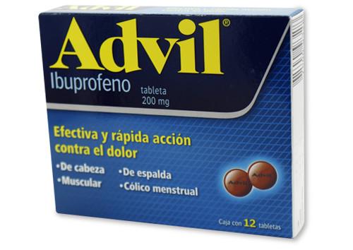 Comprar Advil 200 Mg Caja 12 Grageas