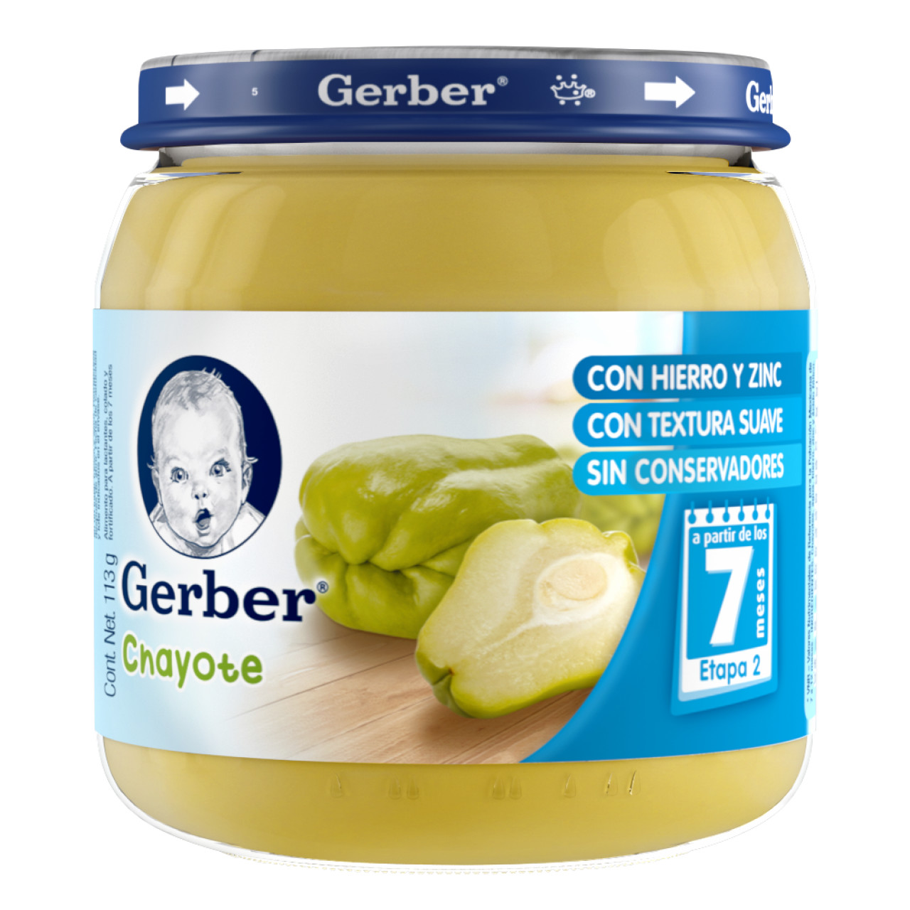 Comprar Gerber 2/E Chayote Papilla 1 Frasco 113 Gr