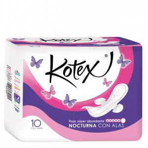 Comprar Kotex Control Nocturna Con Alas Toallas Sanitarias 1 Bolsa 10 Piezas