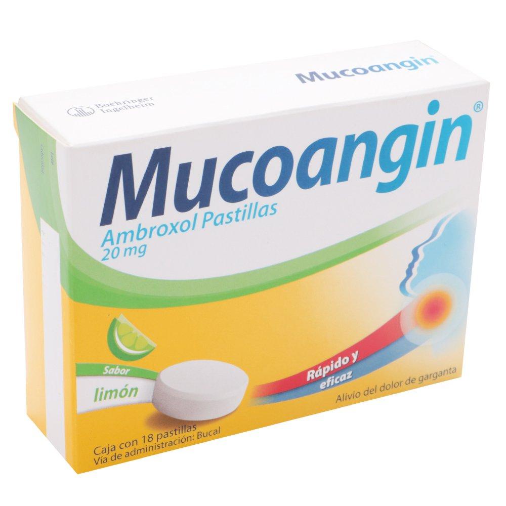 Comprar Mucoangin Limon 20 Mg Caja