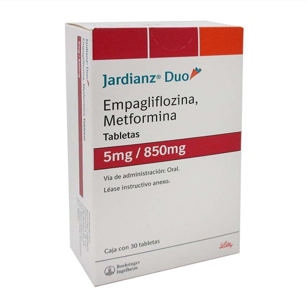 Jardianz Duo 5/850 Mg Caja 30 Tabletas