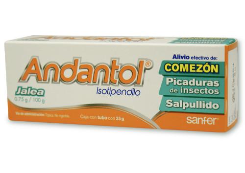 Comprar Andantol 0.75 Gr 1 Tubo Jalea 25 Gr