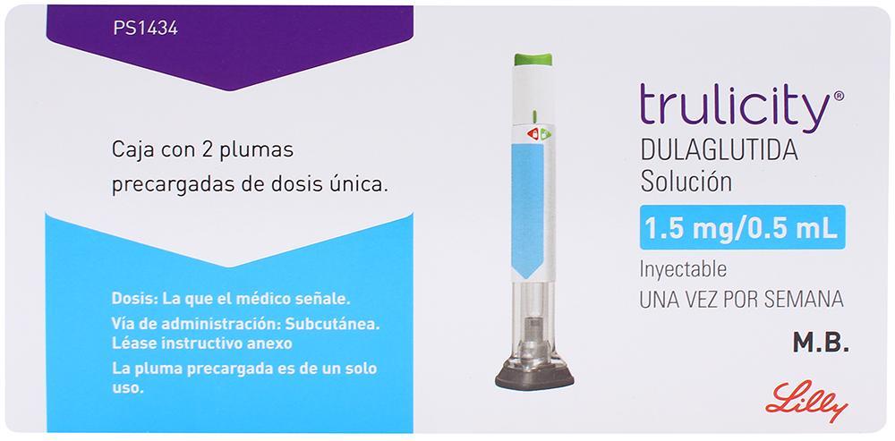Comprar Trulicity Pluma Recargada 1.5/0.5 Ml 1 Caja 2 Jeringas