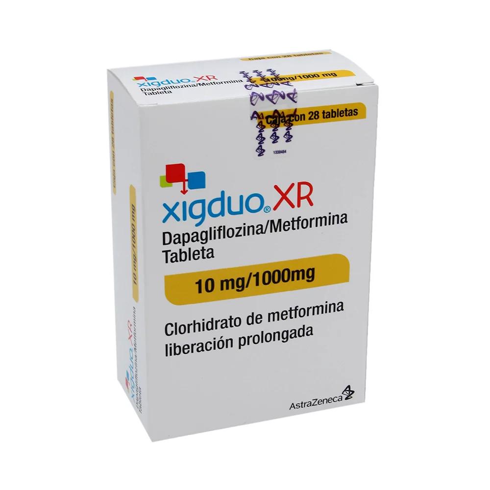 Comprar online XIGDUO XR 28 TAB MX 10 MG/1000 MG