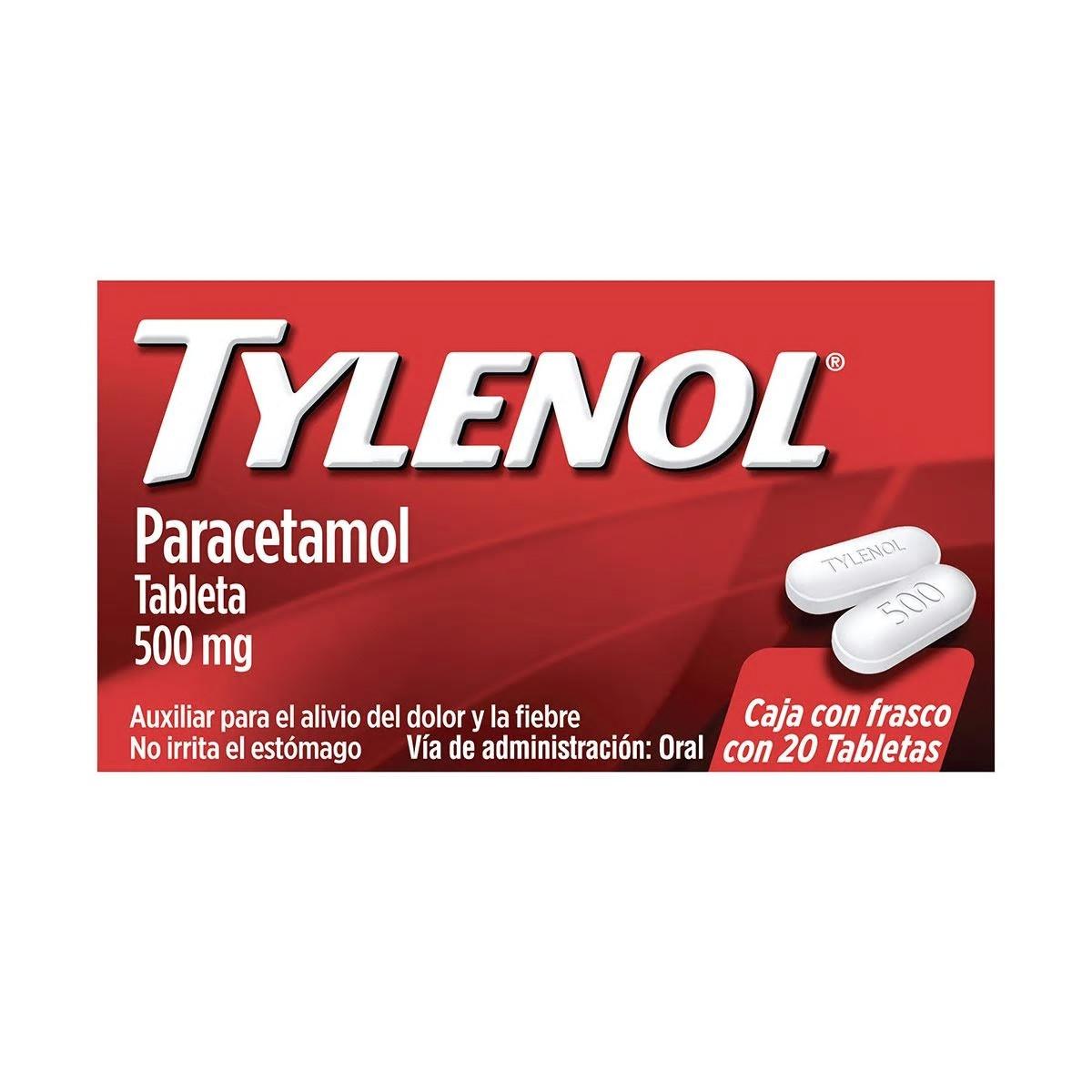 Comprar Tylenol Caplets 500 Mg Caja 20 Tabletas