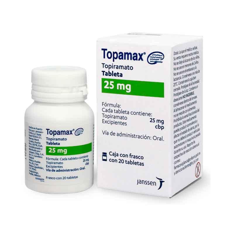 Comprar Topamax 25 Mg Caja 20 Tabletas