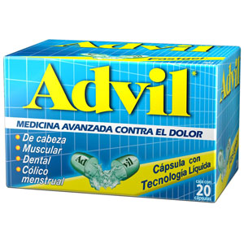Comprar Advil Fast Gel 200 Mg Caja 20 Capsulas