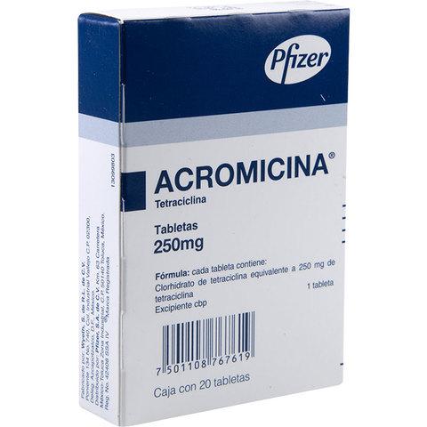 Comprar Acromicina 250 Mg Caja 20 Tabletas