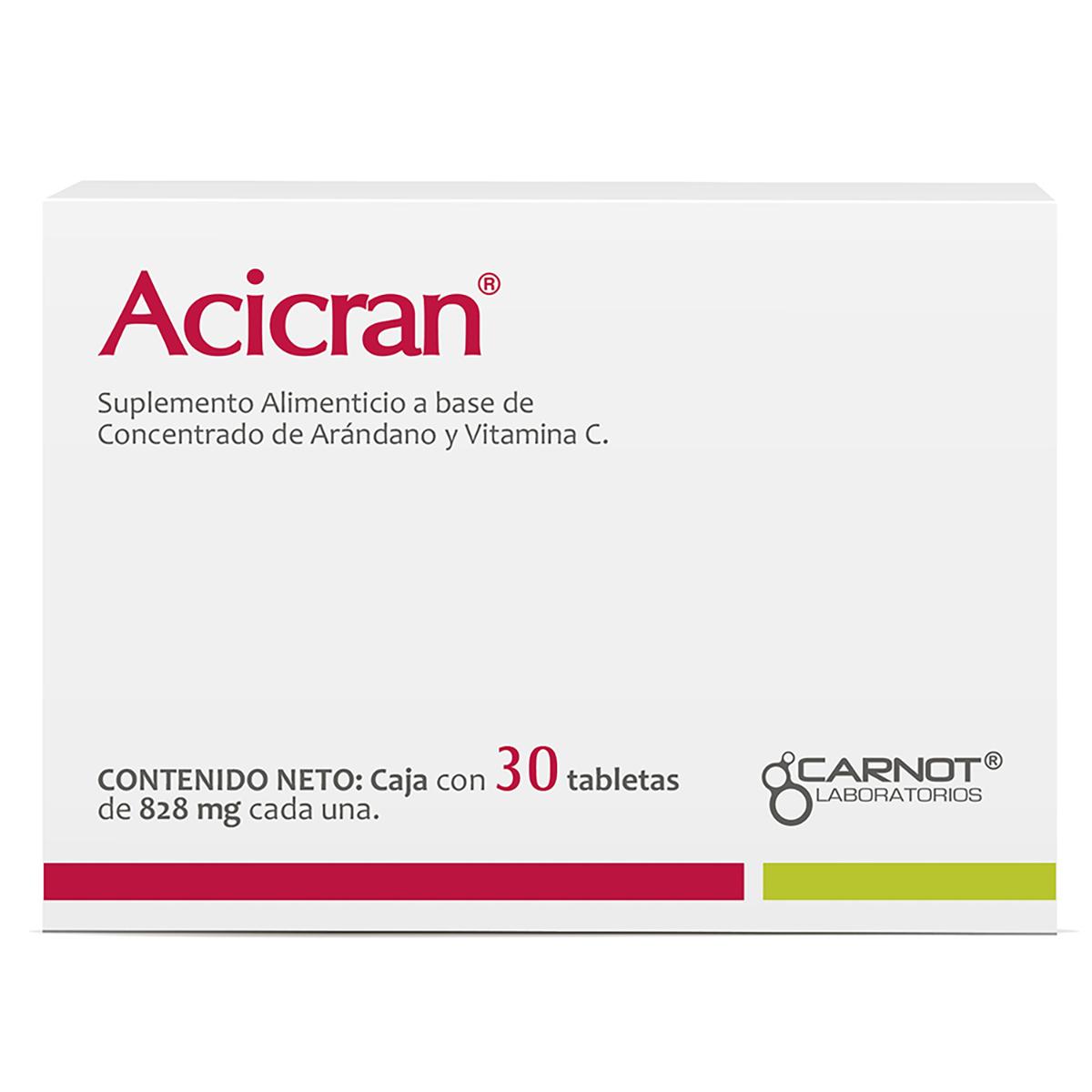 Comprar Acicran 500/50 Mg Tableta 30 Tabletas