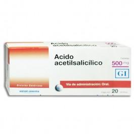 Comprar Acido Acetilsalicilico 500 Mg Caja 20 Tabletas