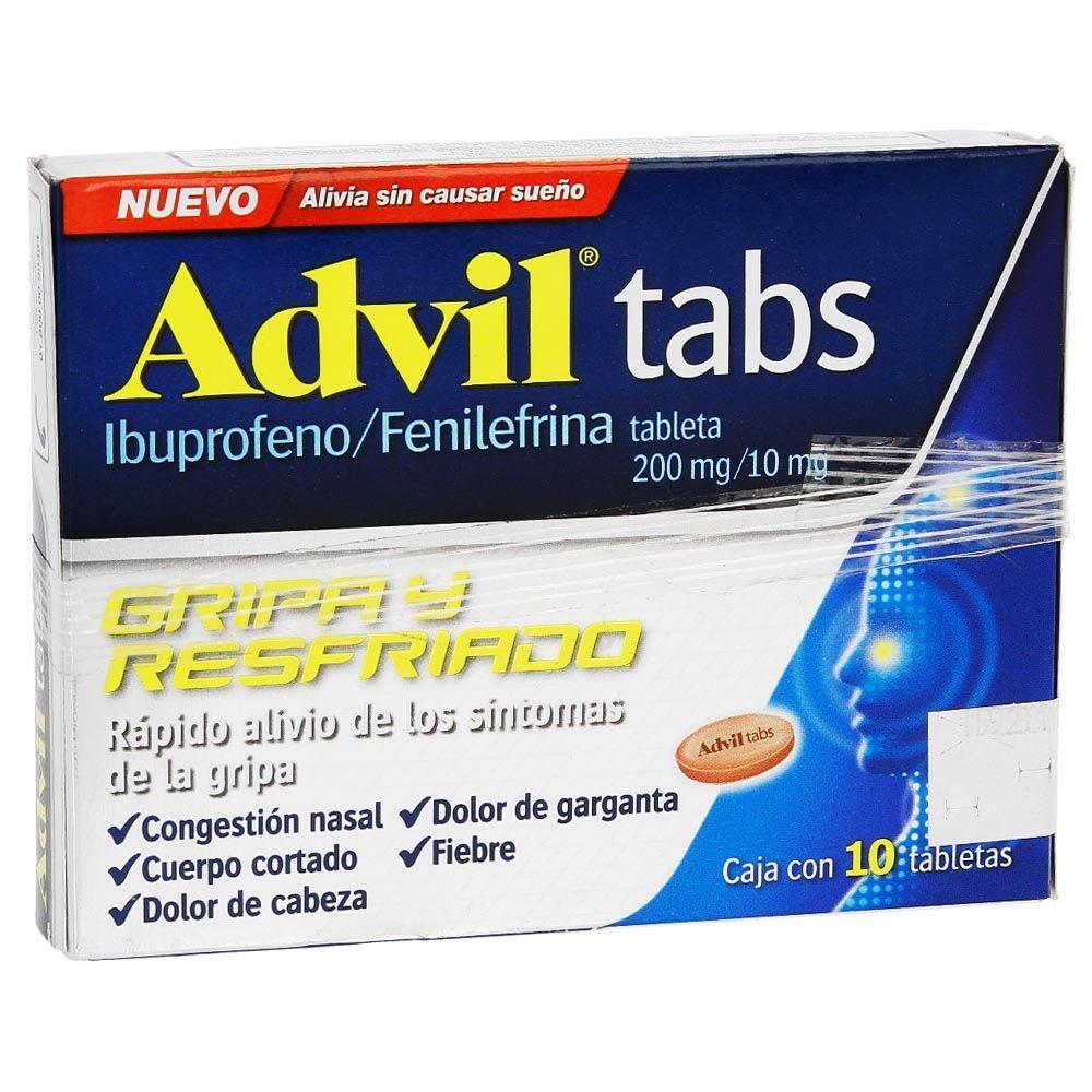 Comprar Advil Tabs Gripa Y Resfriado 200 Mg Caja 10 Tabletas