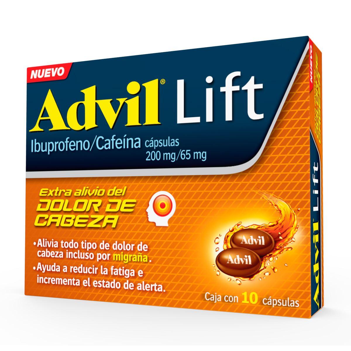 Comprar Advil Lift 200/65 Mg Caja 10 Capsulas