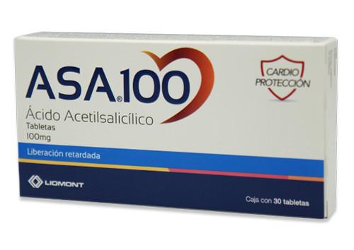 ácido acetilsalicílico tabletas 100 mg