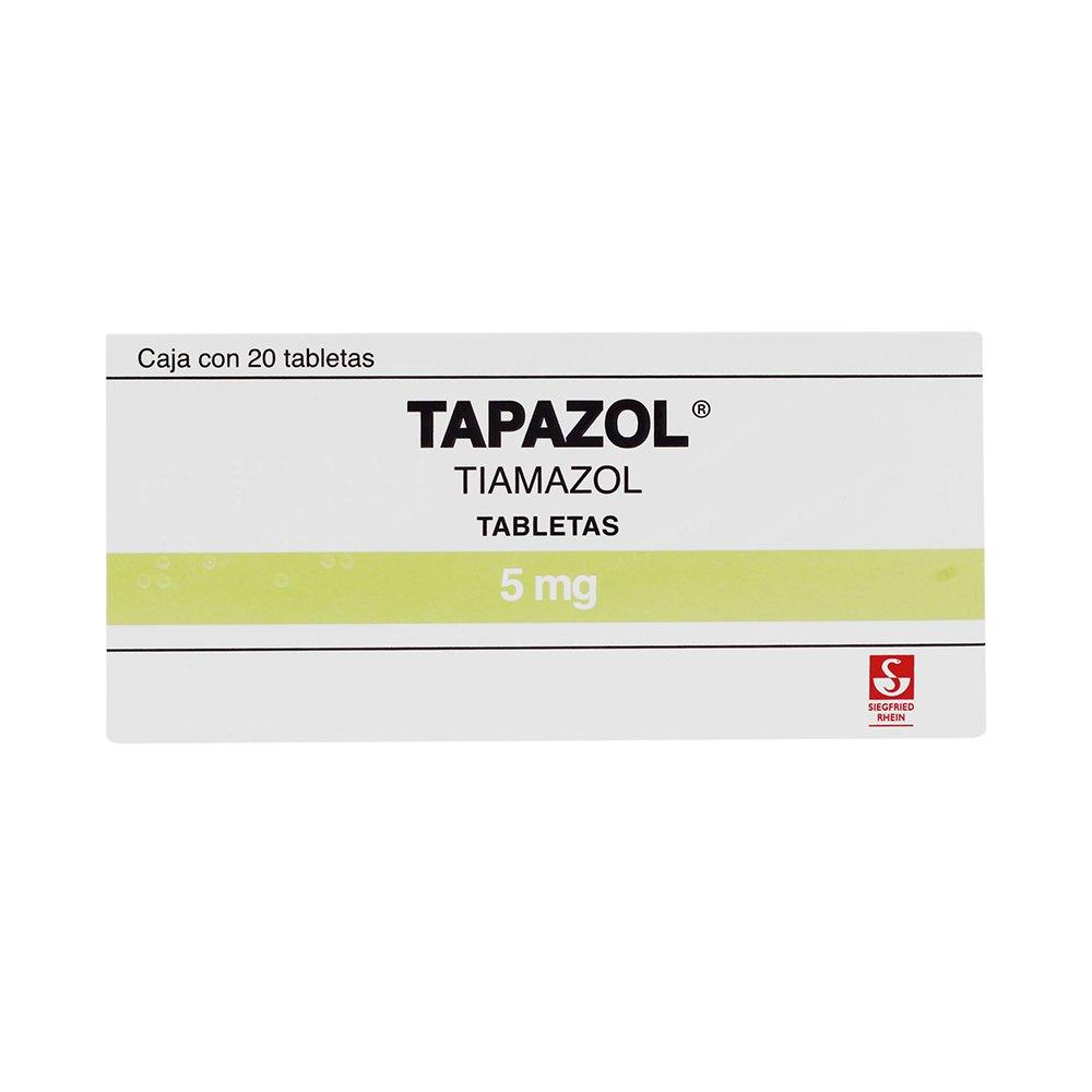 Comprar Tapazol 5 Mg Caja 20 Tabletas