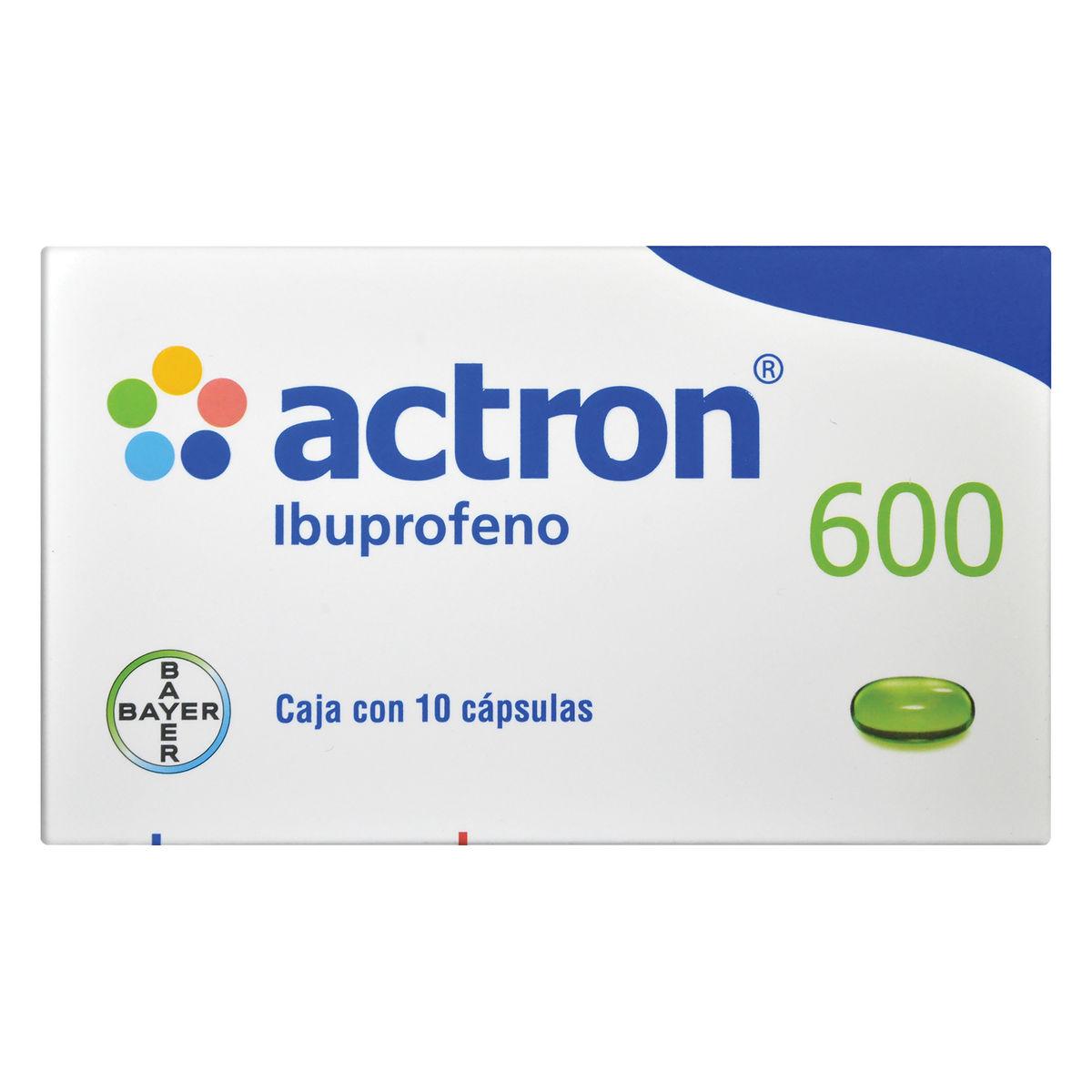Actron 600 Mg Caja 10 Capsulas