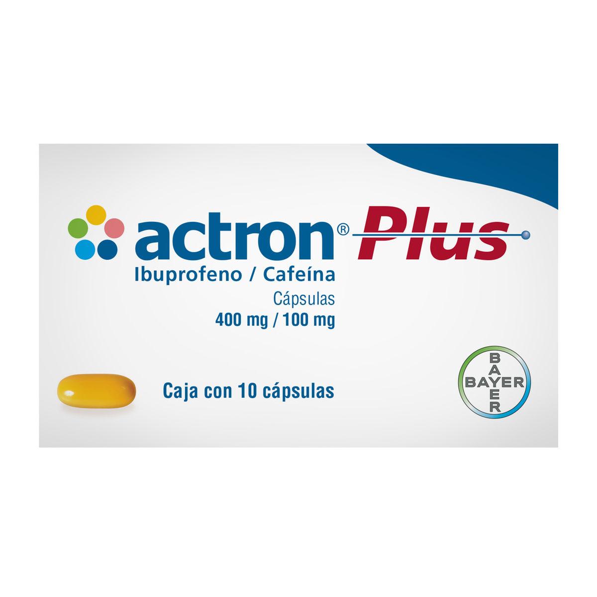 Actron Plus 400/100 Mg Caja 10 Capsulas