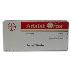 Comprar Adalat Oros 60 Mg Caja 10 Tabletas